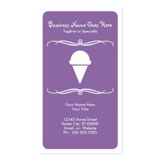 crème glacée de mod cartes de visite personnelles
