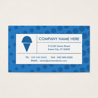 crème glacée tramée cartes de visite