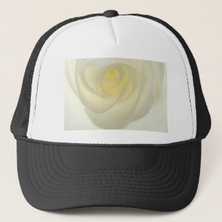 Creme Rose Eye Trucker Hat