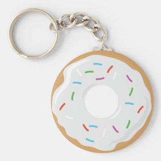 Creme White Donut Key Chain