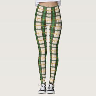 Creme'N Green Plaid Leggings