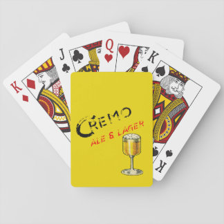 Cremo Ale & Lager Beer Playing Cards
