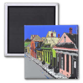 Creol Cottage New Orleans French Quarter Square Magnet