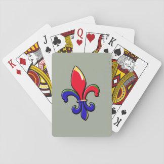 Creole Fleur de Lis Playing Cards