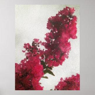Crêpe le Myrte rouge Impasto Poster