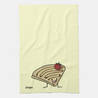 Crepe pasty Strawberry dessert chocolate French Kitchen Towel