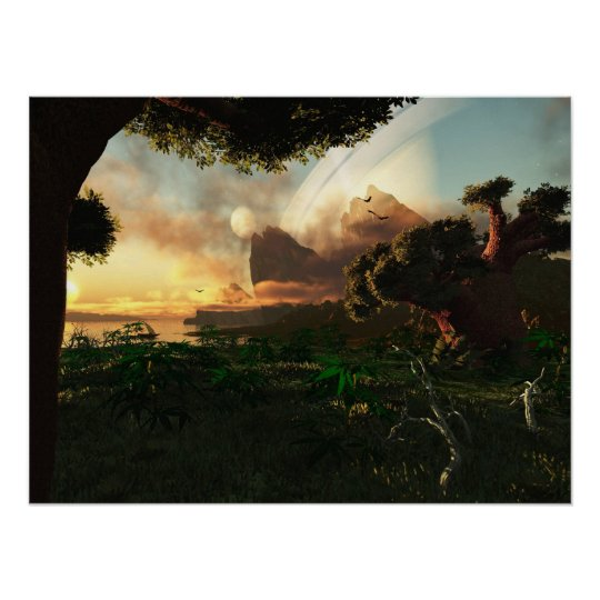 Crepuscular Sky Poster