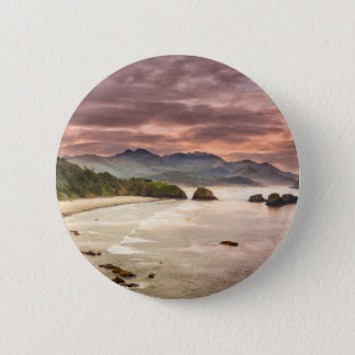 Crescent Beach from Ecola State Park 2 Inch Round Button