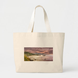 Crescent Beach from Ecola State Park Large Tote Bag