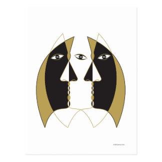 Crescent Faces Postcard