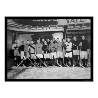 Crescent Hockey Team in New York 1911 Poster