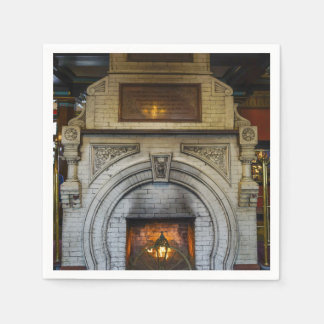 Crescent Hotel Fireplace Paper Napkins