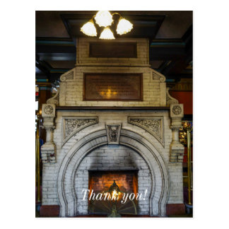 Crescent Hotel Fireplace Postcard