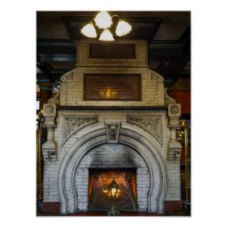 Crescent Hotel Fireplace Poster