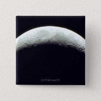 Crescent Moon 2 Inch Square Button