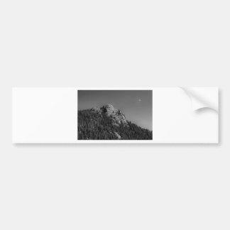 Crescent Moon and Buffalo Rock Bumper Sticker
