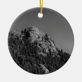 Crescent Moon and Buffalo Rock Ceramic Ornament