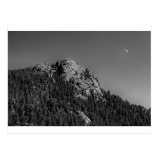 Crescent Moon and Buffalo Rock Postcard