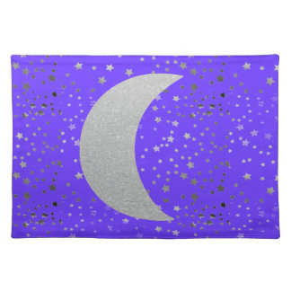 """Crescent Moon and Stars"" Placemats"