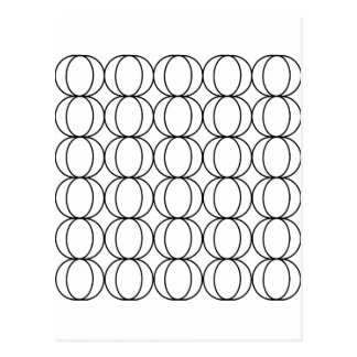 Crescent Moon Geometric Pattern Black and White Postcard
