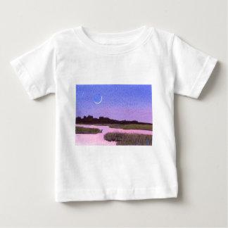 Crescent Moon & Heron Twilight Marsh Baby T-Shirt