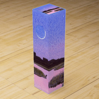 Crescent Moon Marsh & Heron Wine Box