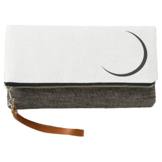 Crescent Moon on fold over clutch
