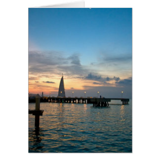 Crescent-Moon-Over-Key-West-Dock Card