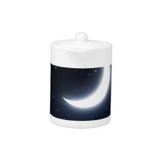 Crescent Moon over Starry Sky2