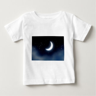Crescent Moon over Starry Sky2 Baby T-Shirt