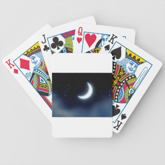 Crescent Moon over Starry Sky2 Bicycle Playing Cards