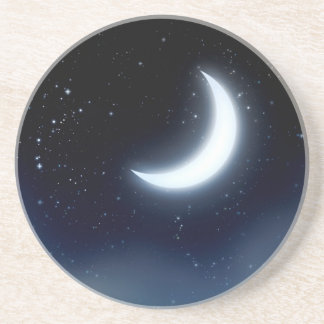 Crescent Moon over Starry Sky2 Coaster