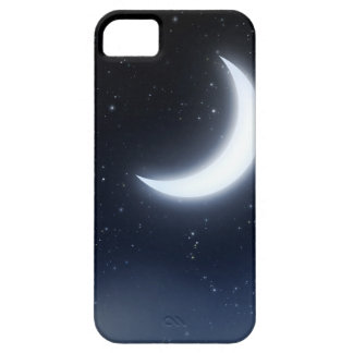 Crescent Moon over Starry Sky2 iPhone 5 Cases