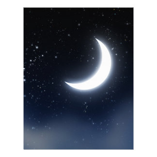 Crescent Moon over Starry Sky2 Letterhead