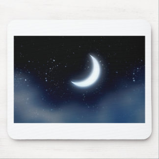 Crescent Moon over Starry Sky2 Mouse Pad