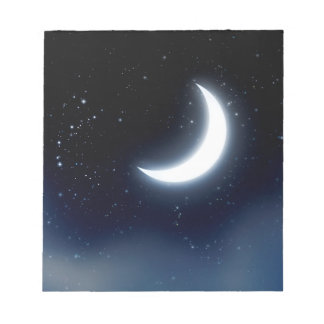 Crescent Moon over Starry Sky2 Notepad