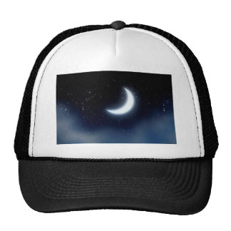 Crescent Moon over Starry Sky2 Trucker Hat