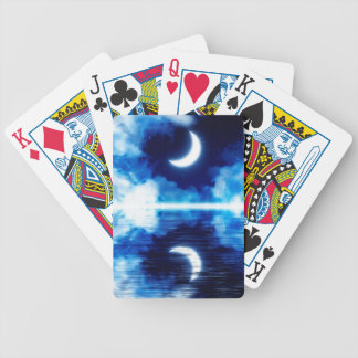 Crescent Moon over Starry Sky Bicycle Playing Cards
