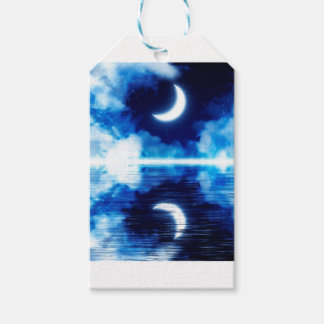 Crescent Moon over Starry Sky Gift Tags