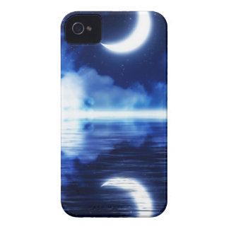 Crescent Moon over Starry Sky iPhone 4 Case-Mate Case