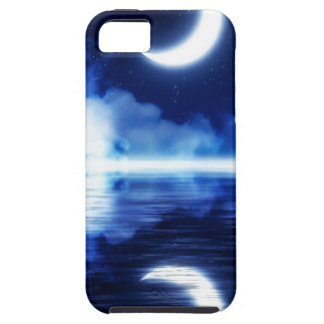 Crescent Moon over Starry Sky iPhone 5 Cover