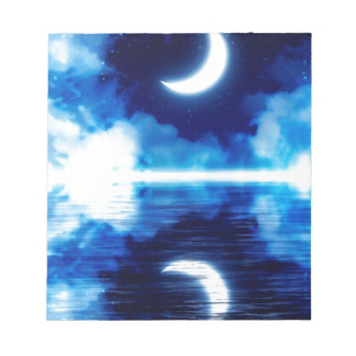Crescent Moon over Starry Sky Notepad