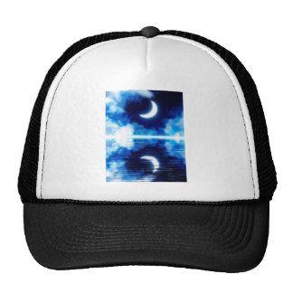 Crescent Moon over Starry Sky Trucker Hat