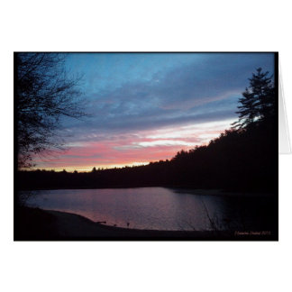 Crescent Moon over Walden Pond Card