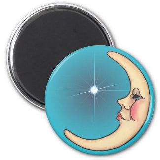 CRESCENT MOON & STAR by SHARON SHARPE Magnet