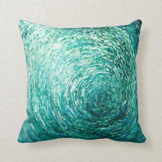 Crescent Ocean Wave in Shades of BlueArtsy Pillow