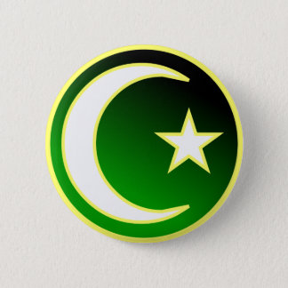 Crescent  & Star of Islam 2 Inch Round Button