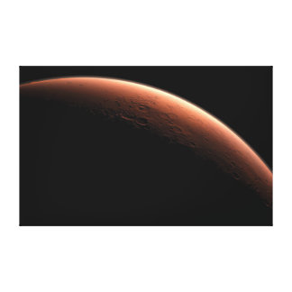 Crescent Sunrise on Mars the Red Planet Canvas Print
