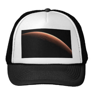 Crescent Sunrise on Mars the Red Planet Mesh Hat