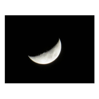 Crescent Waxing Moon Postcard